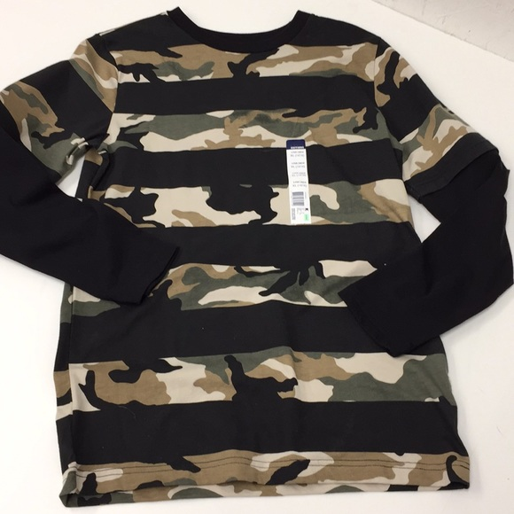 f9db6295a Basic Editions Shirts & Tops | Boys Camo Striped Tee Shirt New ...